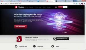 (Screen shot of Mindomo.com)