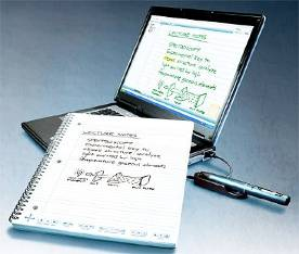 (Screen shot of a Livescribe Echo Pen system)