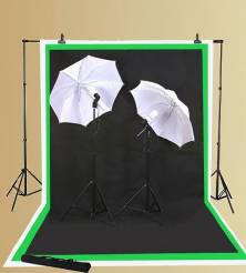 (Screen shot of the ePhoto inc. video lighting kit with three backdrops)