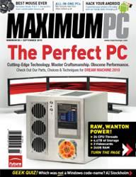 (Cover of Maximum PC Magazine September 2010)
