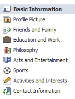 (Image of the Basic Information Section Inside of the Edit Profile Area)