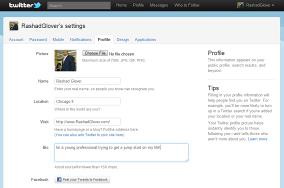 (Screenshot of My Twitter Profile Info)