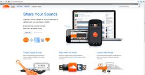(Screenshot of Soundcloud.com Home Page)