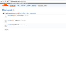 (Screenshot of Your Soundclound.com Dashboard)
