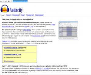 (Screenshot http://audacity.sourceforge.net/ )